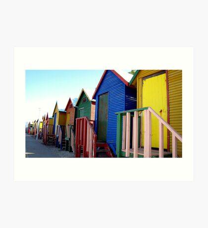 Beach Huts at St James Art Print