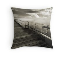 Long Jetty Landscape Throw Pillow