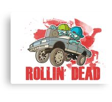 The Walking Dead - The Rollin' Dead - TWD Parody Canvas Print