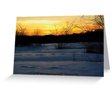 Marianna Pa Winter Sunset Greeting Card
