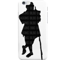 Bilbo Baggins and His Silhouette iPhone Case/Skin