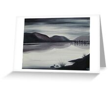 CANADIAN LAKE ~ MONOCHROMATIC ~ WATERCOLOUR Greeting Card