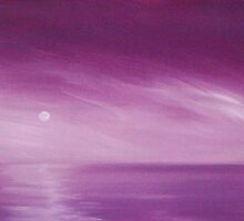 SEASCAPE #3 FUCHSIA DAWN ~ ACRYLIC ON CANVAS by LacewingDesign