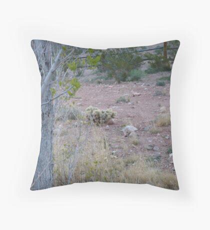 Baby Cactus (Digital) Throw Pillow