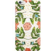 Orange Floral Pattern Complex iPhone Case/Skin
