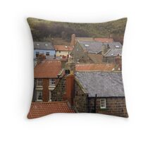Rooftops and gulls Throw Pillow