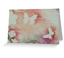 BUTTERFLY GARDEN ~ SILHOUETTE STUDY #2 ~ WATERCOLOUR  Greeting Card