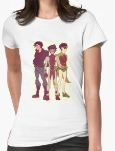 Impulse, Superboy and Robin Womens Fitted T-Shirt