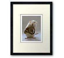 French horn. Framed Print
