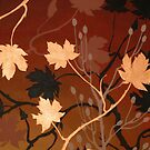 BRONZE MAPLE ~ SILHOUETTE COLLECTION ~ OIL &amp; ENAMEL by LacewingDesign
