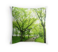 Lush Trees in Central Park NYC Throw Pillow