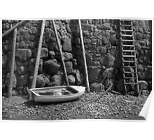 Rowing Boat, Clovelly Beach Poster
