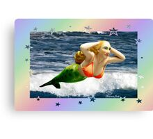 Mermaid Sings ~ Take a Bow Canvas Print