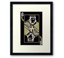 King Of Cali (White and Gold) Framed Print