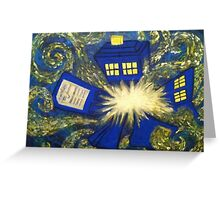 Exploding TARDIS Greeting Card