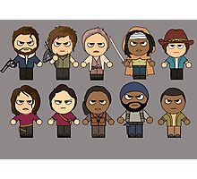 The Walking Dead - Main Characters Chibi - AMC Walking Dead Photographic Print