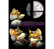 Three Fox Moon Photographic Print
