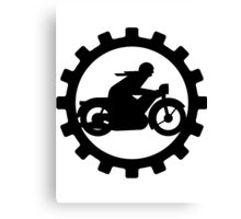 Vintage Motorcycle decal..... Canvas Print