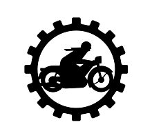 Vintage Motorcycle decal..... Photographic Print
