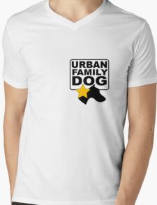 URBAN FAMILY DOG Mens V-Neck T-Shirt