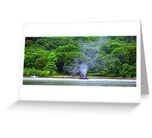 Steamboat on Loch Earn Greeting Card