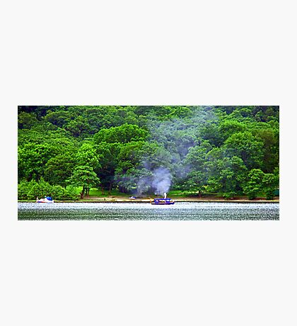 Steamboat on Loch Earn Photographic Print