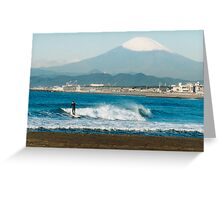 Surfing the Land of the Rising Sun Greeting Card