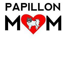Papillon Mom Photographic Print