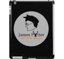 James Potter Defense Squad- Black background Option iPad Case/Skin