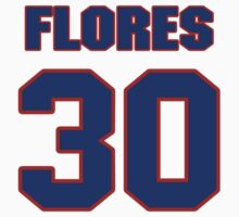 National baseball player Jesse Flores jersey 30 by imsport