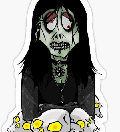 Gangrenous Goth Girl Sticker