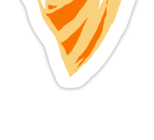 Tangerine Heart-Broken Rose Sticker