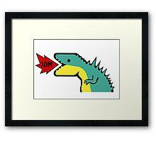 JDM Dino Framed Print