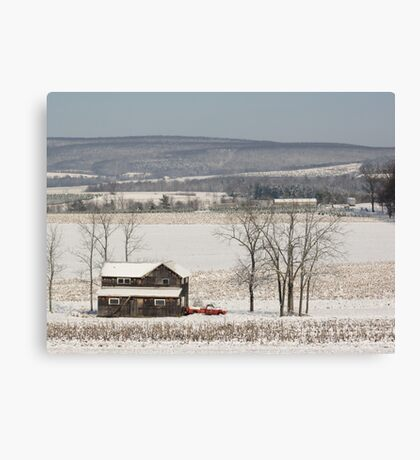 The Fields are White with Snow Canvas Print