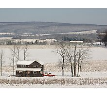 The Fields are White with Snow Photographic Print
