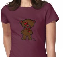 Val the Valentine's Bear Womens Fitted T-Shirt