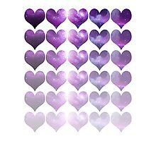 Galaxy Heart Fade Photographic Print
