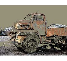 Rusted Truck at Copper Lumber Photographic Print