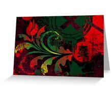 grunge tulip Greeting Card