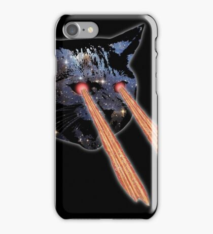 Cat Bacon Lasers  iPhone Case/Skin