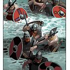 Vikings wading by David  Kennett