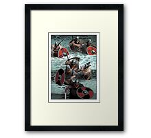 Vikings wading Framed Print
