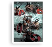 Vikings wading Canvas Print