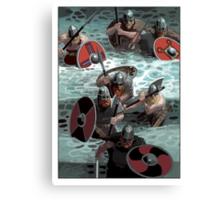 Vikings wading Canvas Print