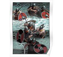 Vikings wading Poster
