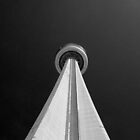 CN Tower black and white by Ben Kelly