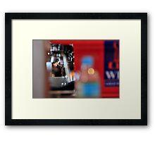 Drops of Espresso Framed Print