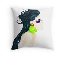 Eyelash Girl Throw Pillow