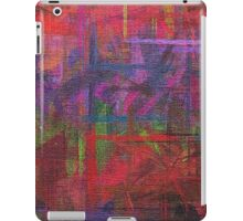 Abstract painted canvas iPad Case/Skin