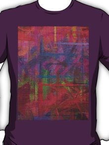 Abstract painted canvas T-Shirt
